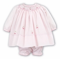 Sarah Louise Baby Girls Smocked Dress with Panty - Pink