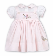 Sarah Louise / Dani Girls Embroidery Easter Bunnies Jumper / Blouse Set - Pink