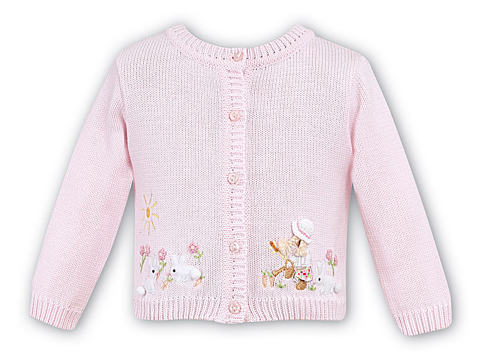 Sarah Louise Dani Girls Easter Bunny Cardigan Pink