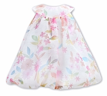 Sarah Louise Infant Girls Pink Pastels Floral Party Dress