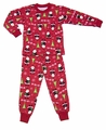 Sara's Prints Boys / Girls Red Santa Claus Ho Ho Ho Christmas Pajamas