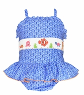 Smocked Bathing Suits for Girls