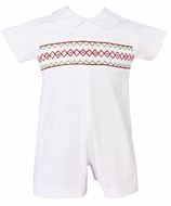 Smocked Shortalls / John Johns for Boys