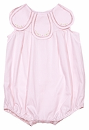 Sophie & Lucas Baby Girls Bubble with Embroidery - Petal Neckline - Pink
