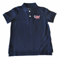 State Traditions Little Boys Game Day Polo Shirt - USA - Navy Blue