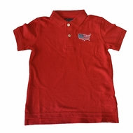 State Traditions Little Boys Game Day Polo Shirt - USA - Red