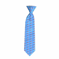 State Traditions Little Boys Youth Gameday Zip Necktie - Light Blue North Carolina