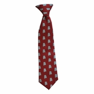 State Traditions Little Boys Youth Gameday Zipper Necktie - Alabama Tuscaloosa