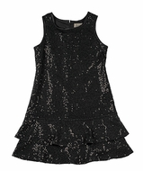 Studio 342 by Florence Eiseman Girls Black Sequins Knit Dress