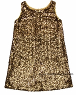 Studio 342 by Florence Eiseman Girls Gold Sequin Party Dress
