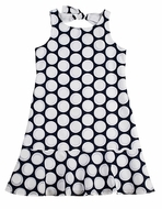 Studio 342 by Florence Eiseman Girls Navy Blue / White Dots Dress