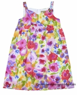 Studio 342 by Florence Eiseman Girls Rainbow Watercolors Spring Floral Dress