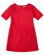 Studio 342 by Florence Eiseman Girls Red Lace Dress