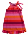 Studio 342 by Florence Eiseman Girls Shades of Pink / Coral Striped Chiffon Dress
