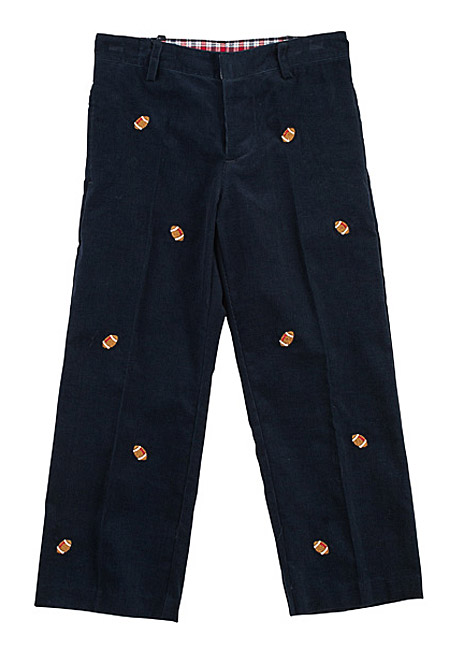 T F Laurence By Eiseman Boys Navy Blue Wide Wale Cord