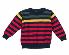 TF Laurence by Eiseman Boys Red / Navy Blue / Green / Yellow Striped Sweater