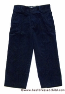 TF Laurence by Eiseman Boys Wide Wale Corduroy Pants - Navy Blue