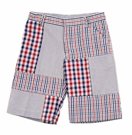 TF Laurence by Florence Eiseman Boys Blue / Red Patriotic Patchwork Shorts