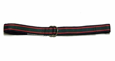 TF Laurence by Florence Eiseman Boys Navy Blue / Red / Green Grosgrain Ribbon Belt