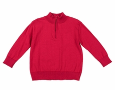 TF Laurence by Florence Eiseman Boys Red Half-Zip Christmas Sweater