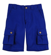 TF Laurence by Florence Eiseman Boys Royal Blue Cargo Shorts