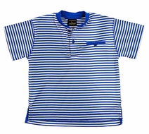 TF Laurence by Florence Eiseman Boys Royal Blue Striped Shirt