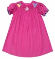 The Best Dressed Child Girls Hot Pink Corduroy Smocked Princess Bishop Dress