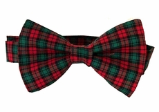 VBee's by Vernell's Boys Dressy Bow Tie - Traditional Red Plaid Christmas Celebration