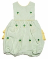 Vive la Fete K&:L Baby Girls Green Embroidered Shamrocks Ruffle Bubble