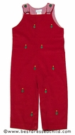 Vive la Fete K & L Baby / Toddler Boys Red Corduroy Embroidery Christmas Trees Longall