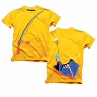 Wes & Willy Boys Bold Golden Yellow Boot Fishing Tee Shirt