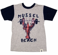 Wes & Willy Boys Heather Big Red Lobster Shirt