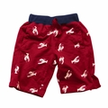Wes & Willy Boys Maroon Lobster Print Shorts