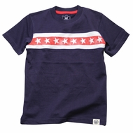 Wes & Willy Boys Midnight Blue / Red / White Stars Patriotic Tee Shirt