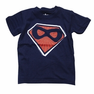 Wes & Willy Boys Midnight Blue Super Hero T-Shirt