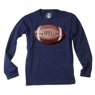 Wes & Willy Boys Midnight Blue Wrecking Football Tee Shirt