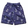 Wes & Willy Boys Navy Blue Anchor Print Shorts
