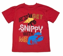 Wes & Willy Boys Red Snippy Crab Tee Shirt