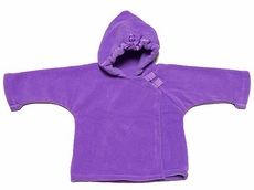 Widgeon Girls Fleece Jackets - Favorite Warm Plus Hooded Coat with Dotted Ribbon Trim in Lavender