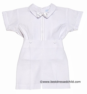 Will'Beth Baby / Toddler Boys Dressy White Three Piece Outfit with Bow Tie