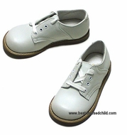 Willits Boys All White Leather Oxford Dress Shoes - Easter Shoes - Medium D or Wide EE Widths