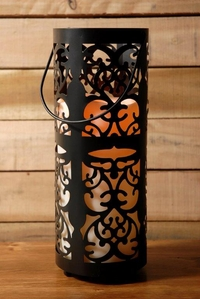 Storyville Black LED Candle Lantern 12in