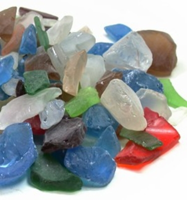 Beach Glass Vase Gems Multicolor