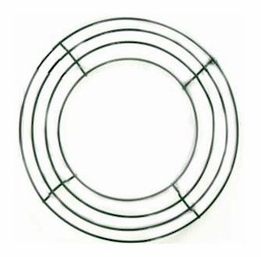 "10"" Box Wire Wreath Frames Green  (pack of 10)"
