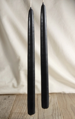 "100% Beeswax Taper Candles 12"" Black (2 candles)"