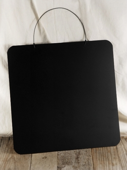 Chalkboard Square With Wire Hanger 14in