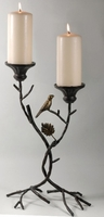 Pillar Candle Holder Metal Branch
