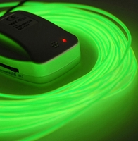 26' Green Sound Activated Battery Operated El Wires