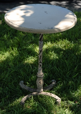 "26"" Metal Pedestal Table"