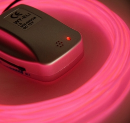 26' Pink Sound Activated Battery Operated El Wires